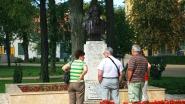 Balatonfüred, Tagore-sétány, Rabindranáth Tagore emlékművével.