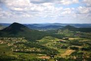 Látkép Badacsony-hegyről.